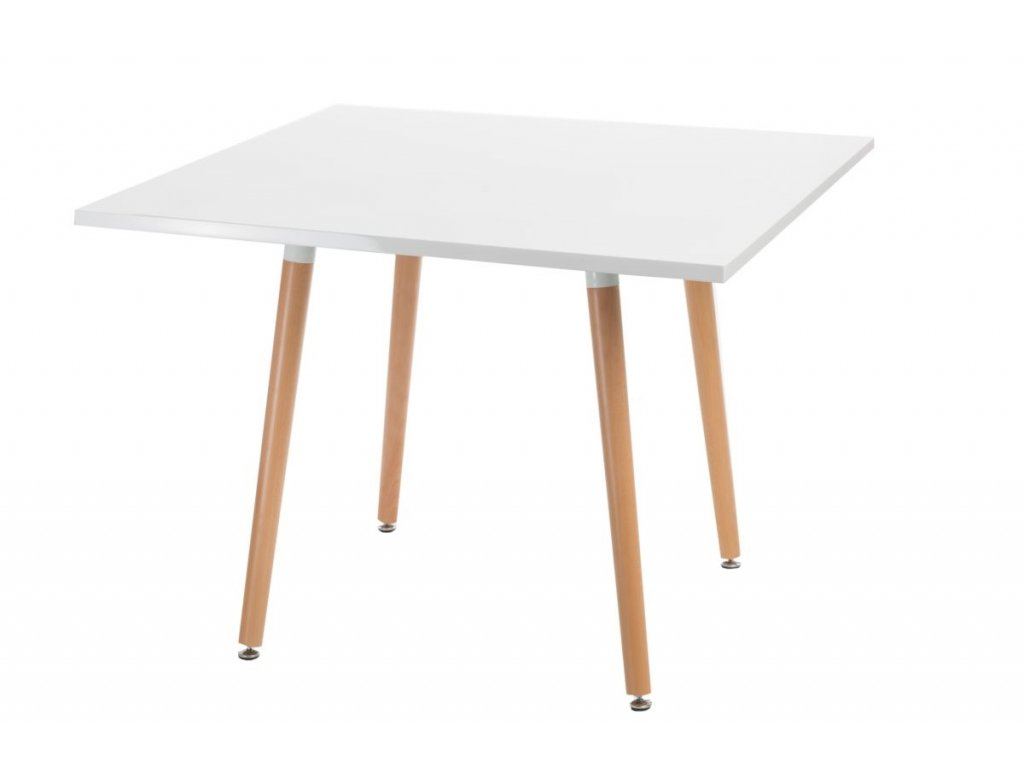 Stôl Copine doska biela 100x100 cm