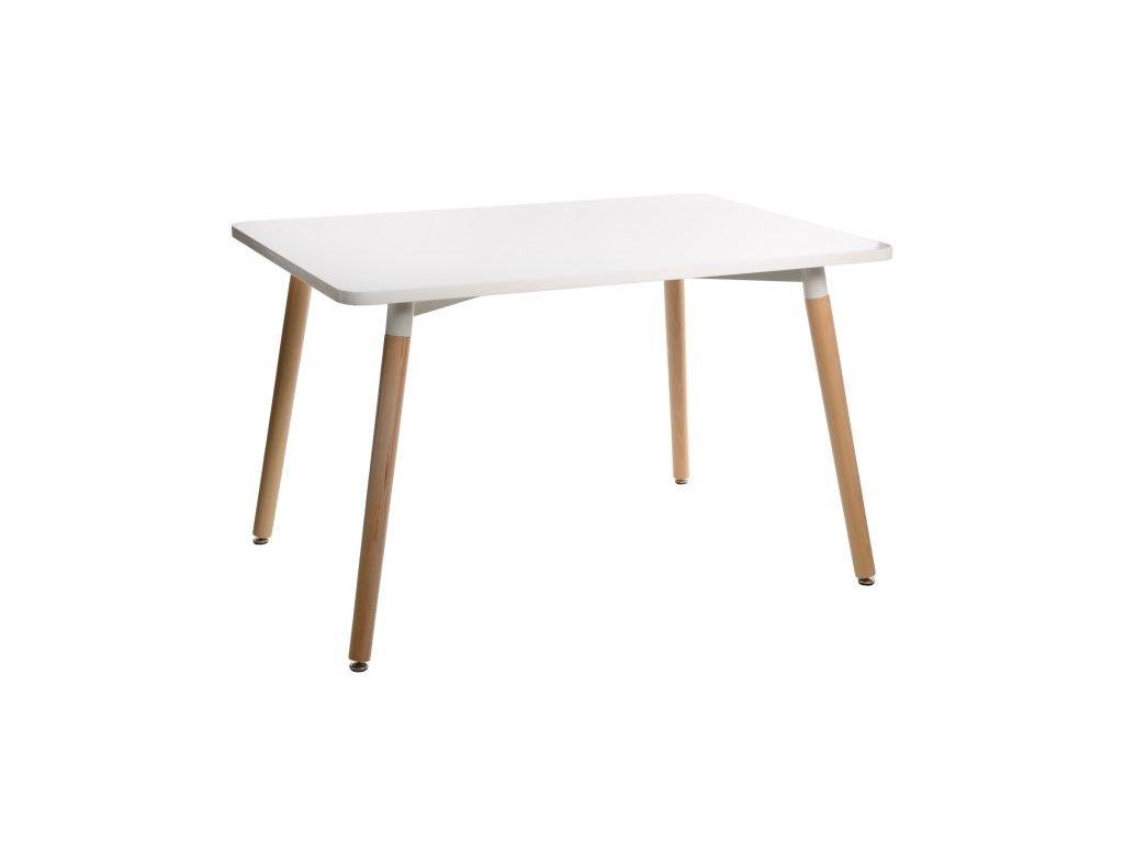 Stôl Copine doska biela 120x80 cm