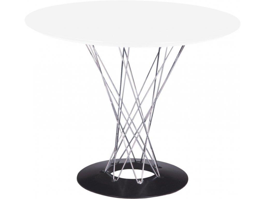 Stôl Cyklón guľatý, biely