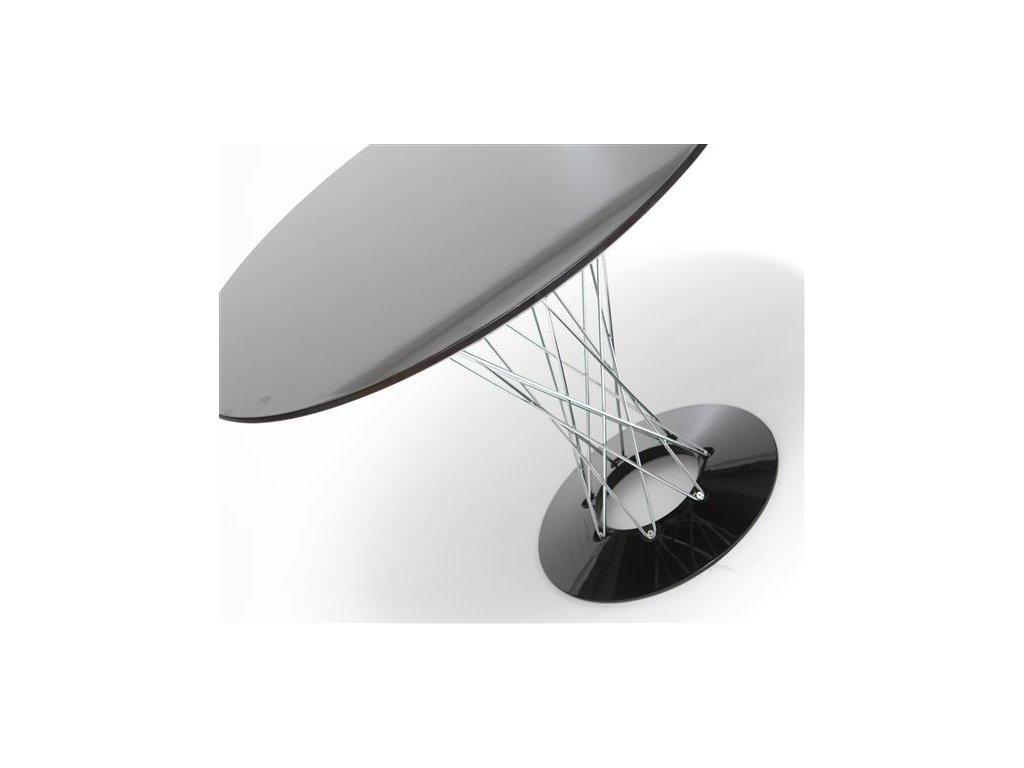 Stôl Cyklón guľatý, čierny