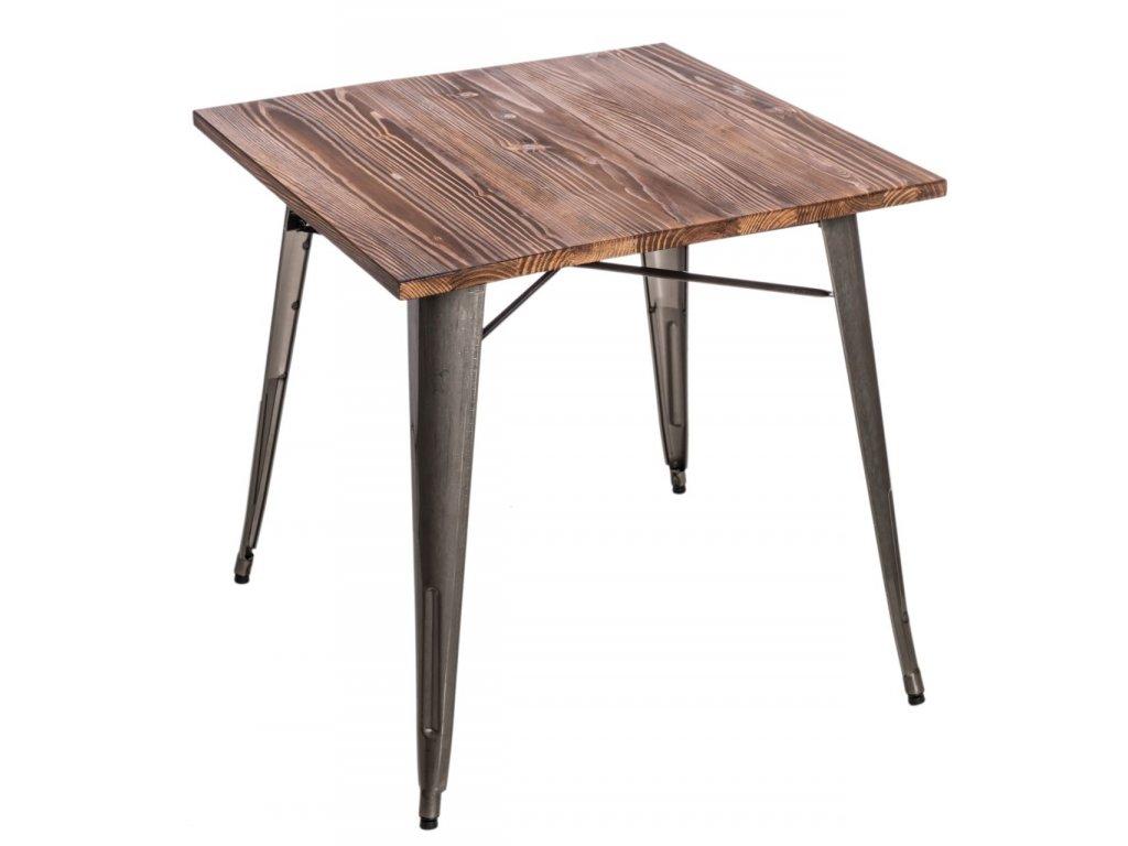 Stôl Paris Wood metalický sosna