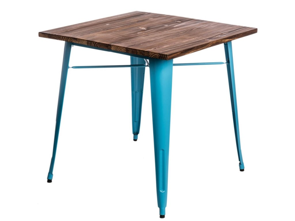 Stôl Paris Wood modrý sosna