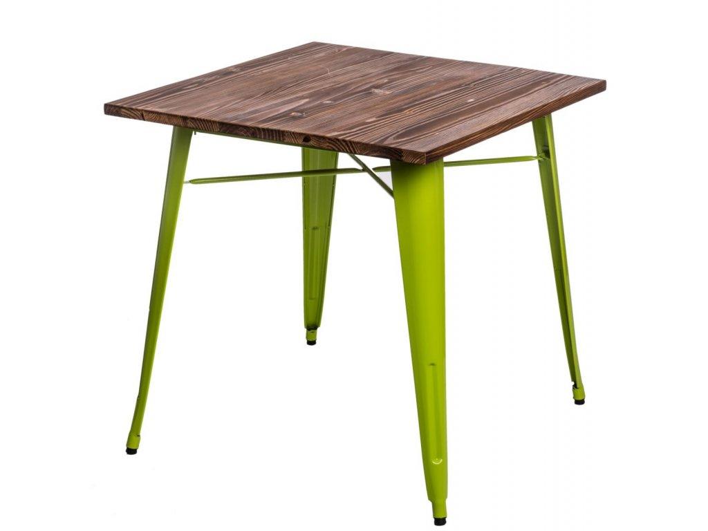 Stôl Paris Wood zelený svetlý sosna