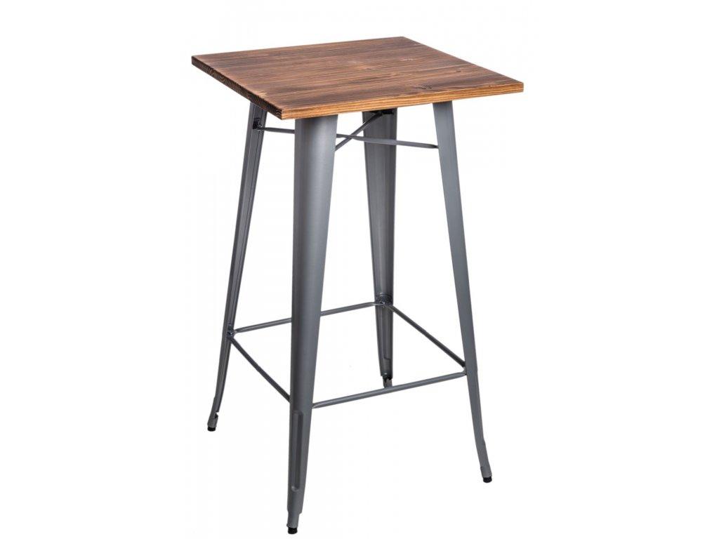 Stôl barový Paris Wood strieborný sosna
