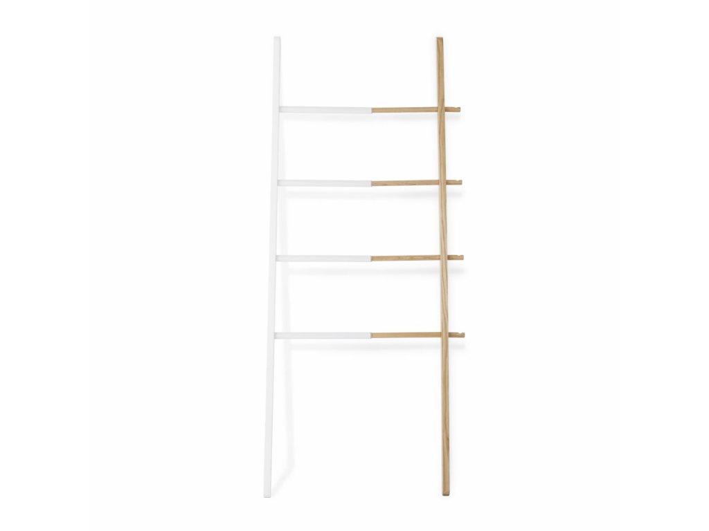 Vešiak rebrík Hub Ladder biely / natural
