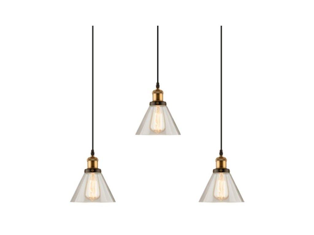 Luster - Závesná lampa New York Loft 1 CLACK