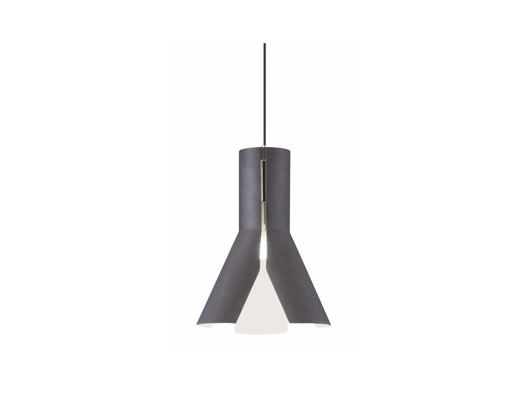 Luster - Závesná lampa Origami Design 1 čierna / bie