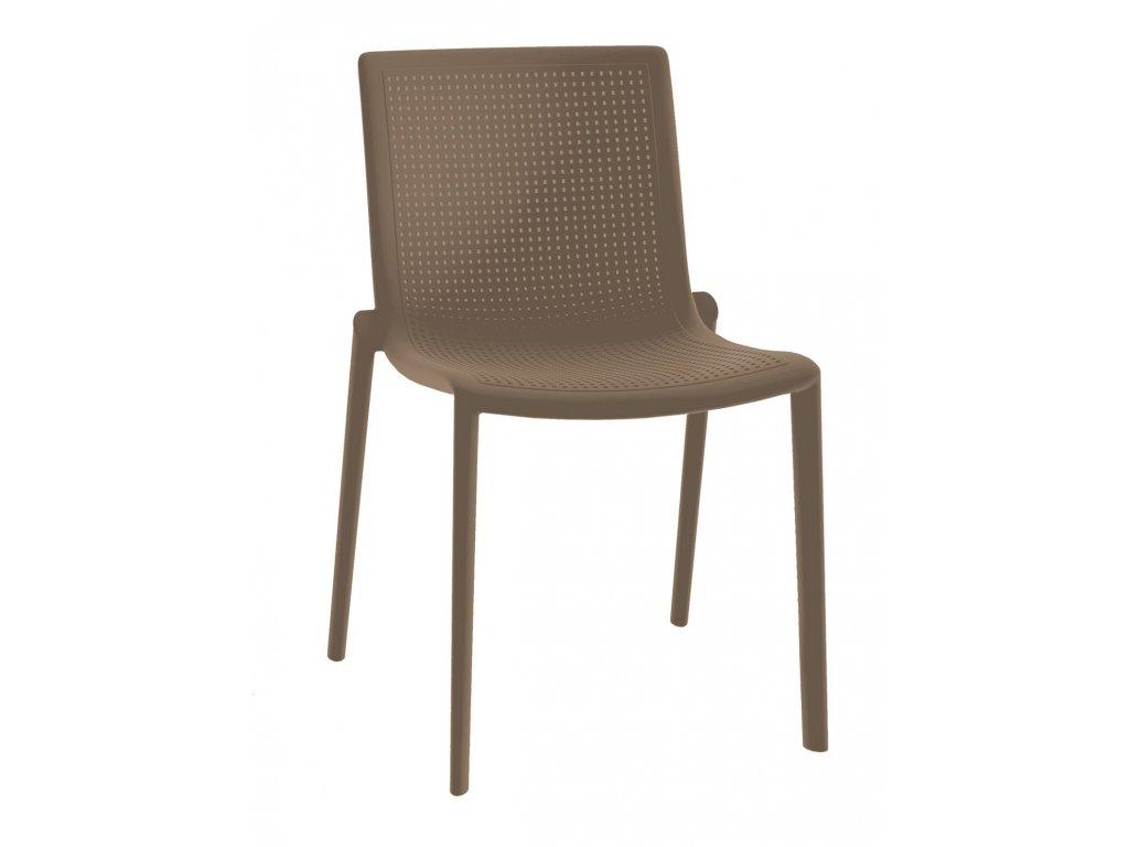 Stoličky Beek hnedá