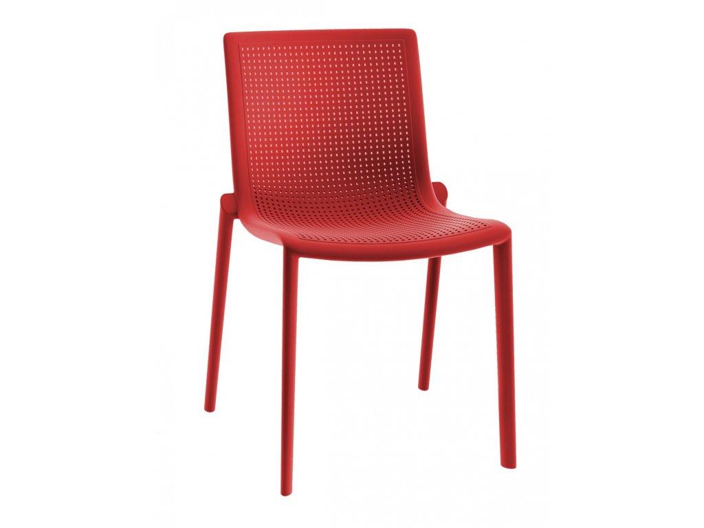Stoličky Beek červená