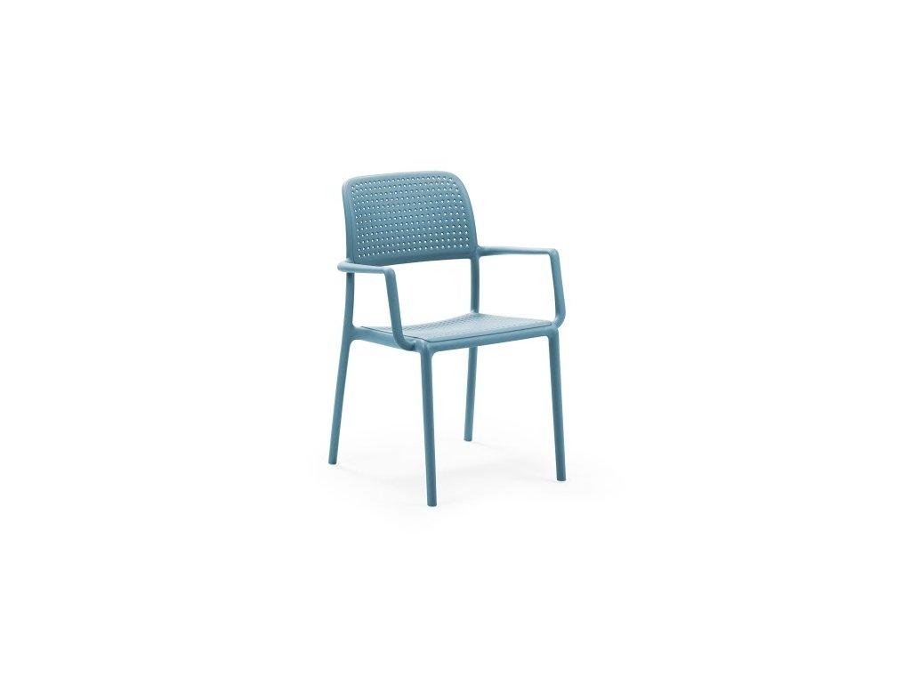 Stolička Bora s opierkami modrá
