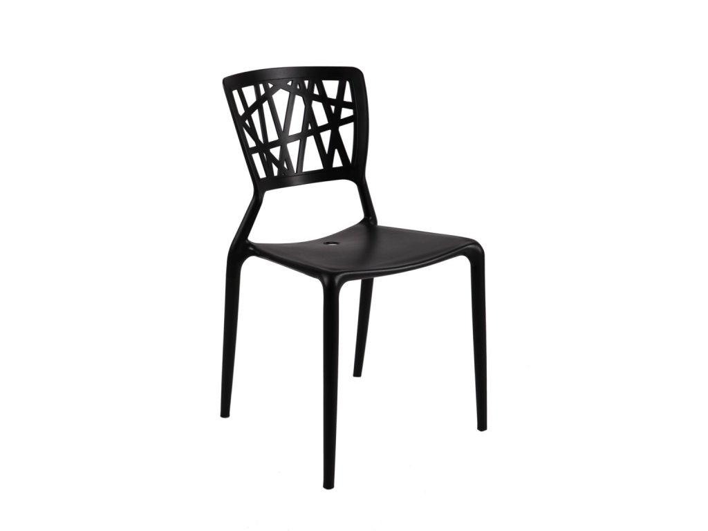 Stoličky Bush čierna