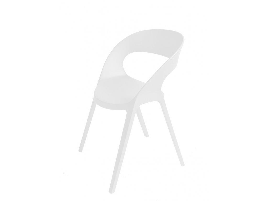 Stoličky Carla biela