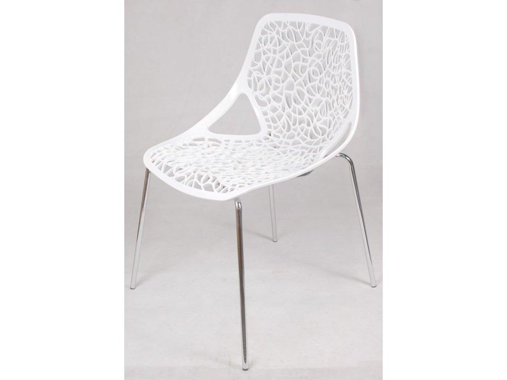 Stoličky čepeliam biela