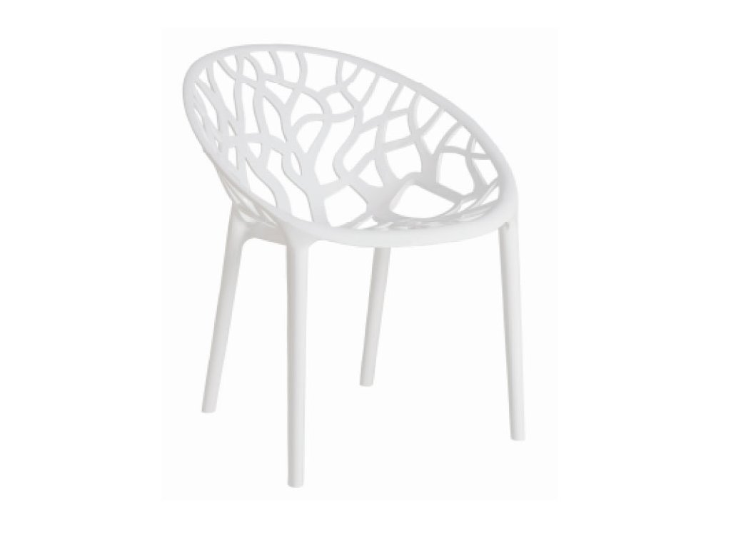 Stoličky Coral Biela Glossy