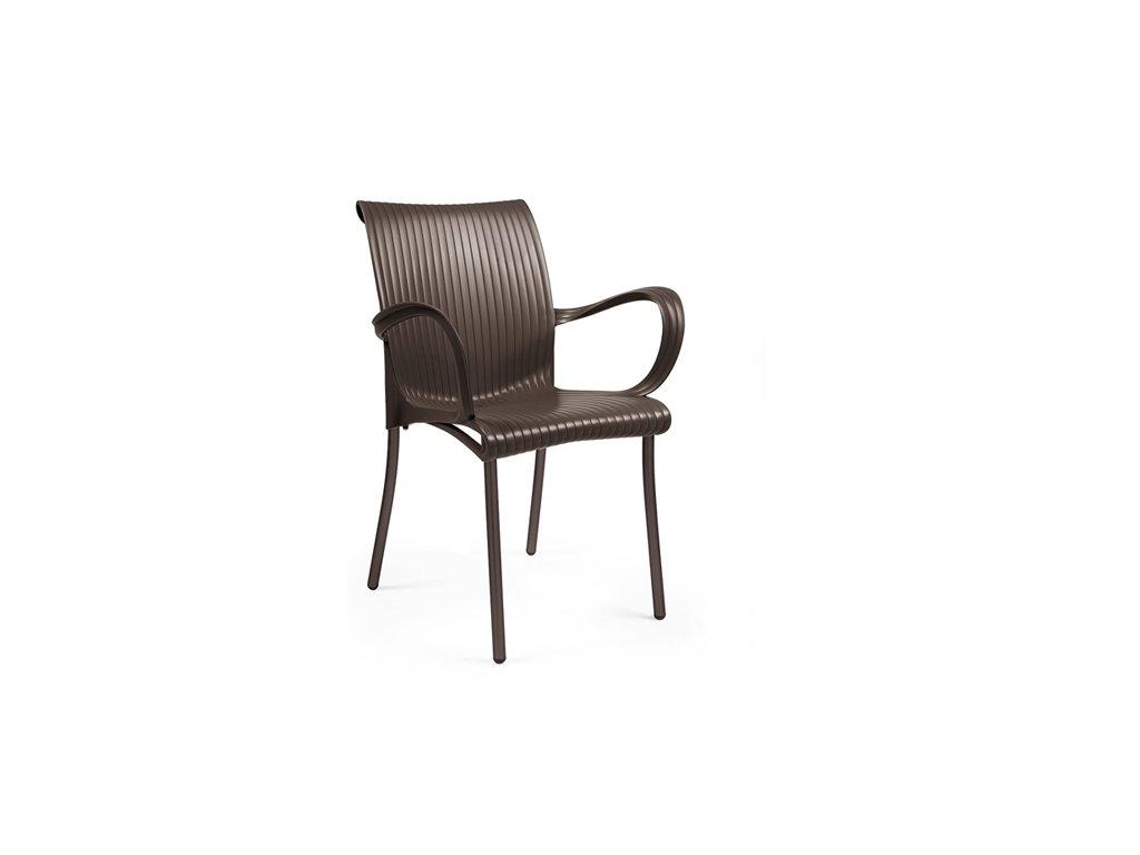 Stoličky Dáma hnedá