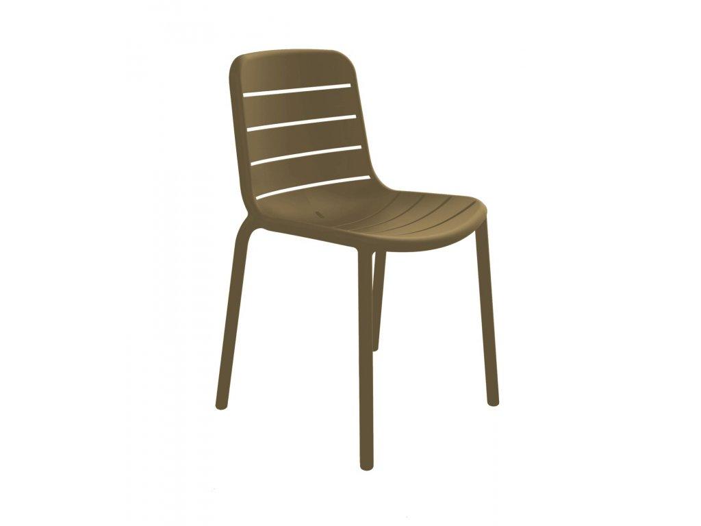 Stoličky Gina hnedá
