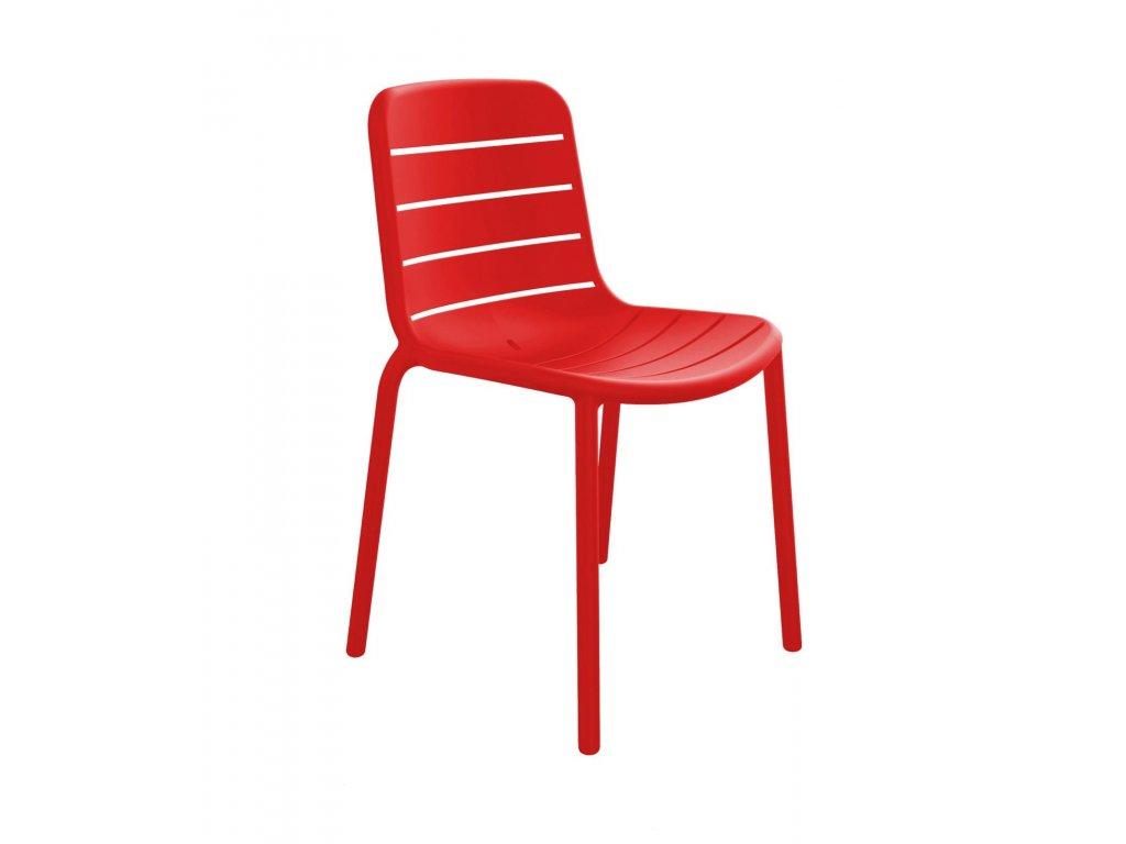 Stoličky Gina červená