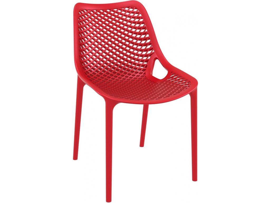 Stoličky Grid červená