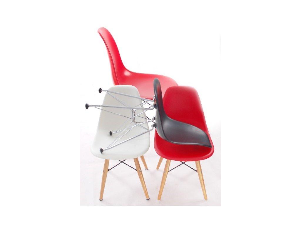 Stoličky JUNIORP016 červená, drevené nohy