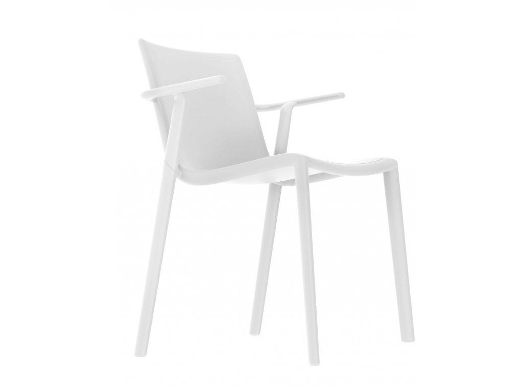 Stolička Kat s opierkami biela