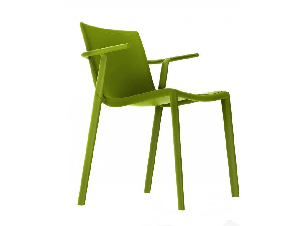 Stolička Kat s opierkami zelená