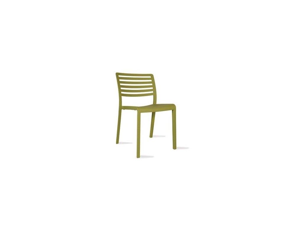 Stoličky Lama olive green