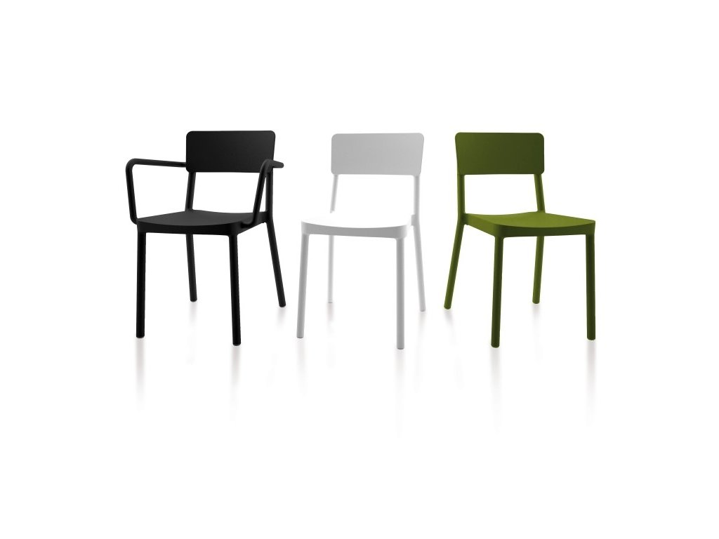 Stoličky Lisboa olivová