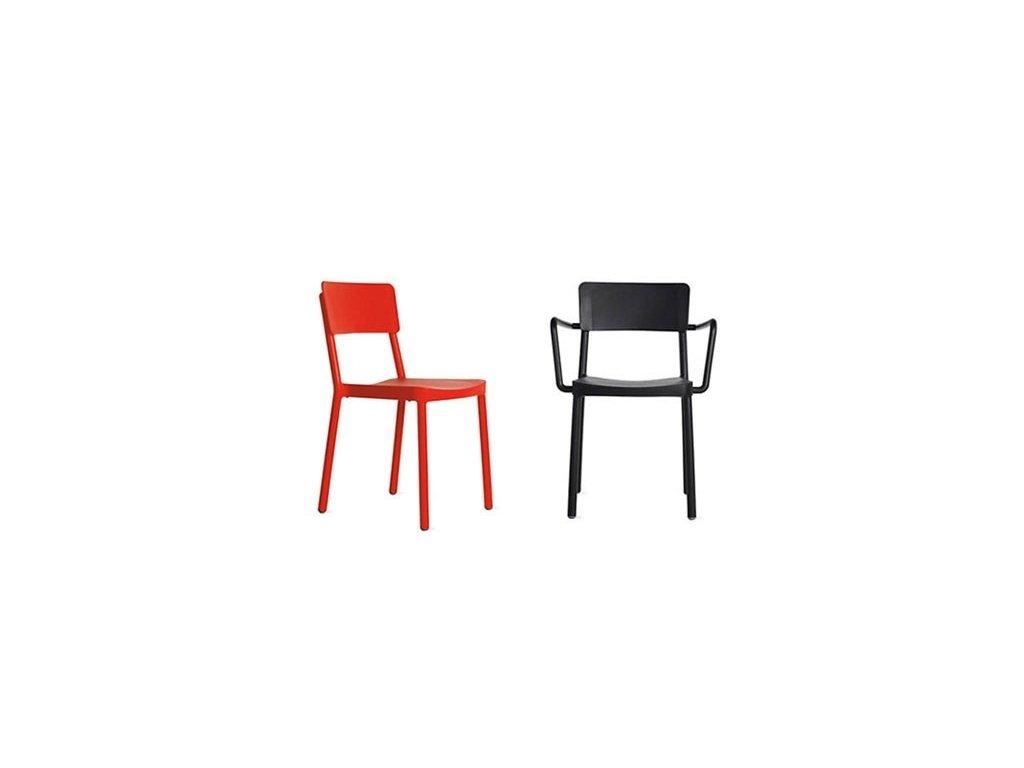 Stoličky Lisboa červená