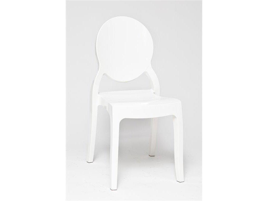Stoličky Mia Biela Glossy