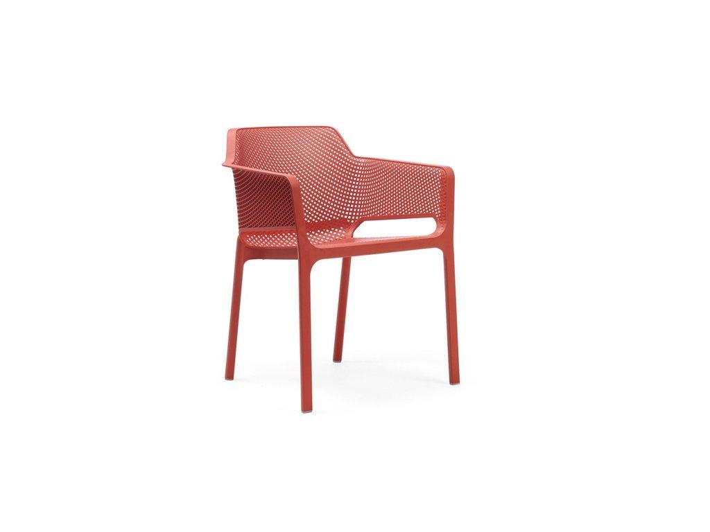 Stoličky Net červená