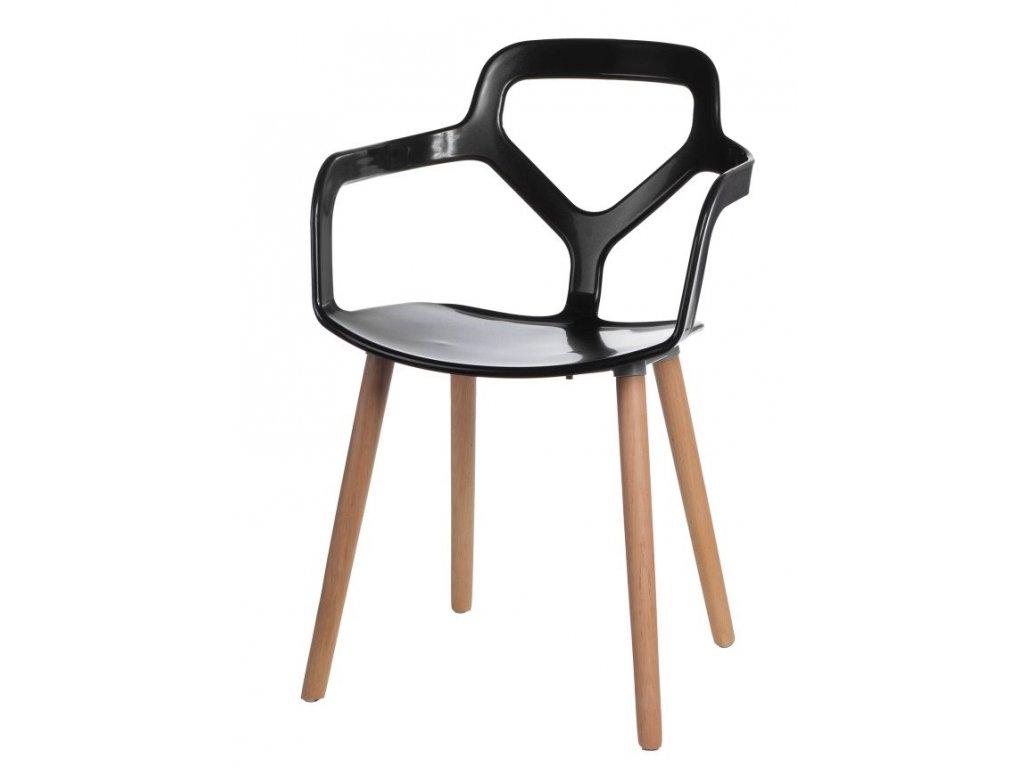 Stoličky Nox Wood čierna