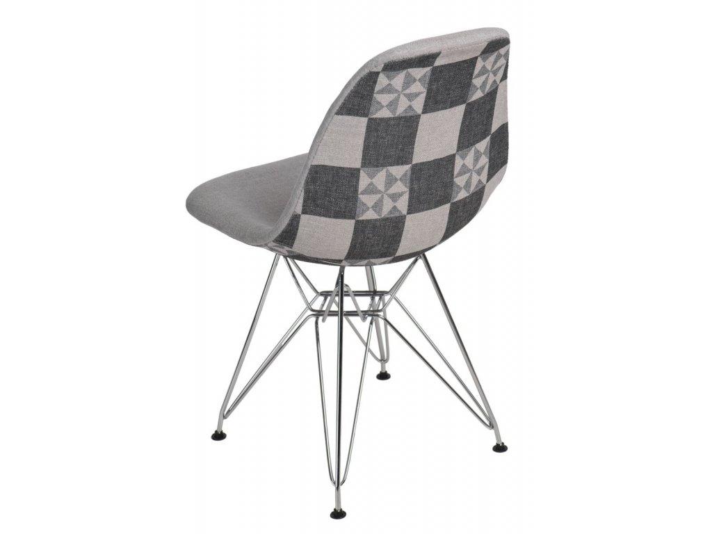 Stoličky P016 DSR Pattern sivá / patchwork
