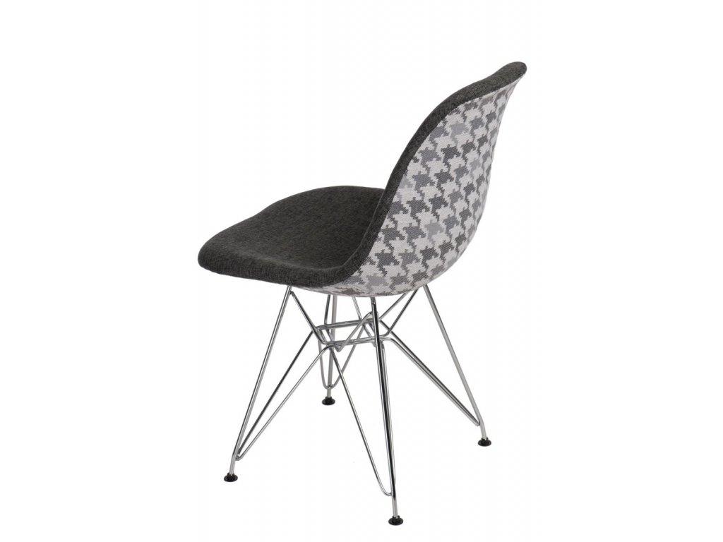 Stoličky P016 DSR Pattern sivá / pepito