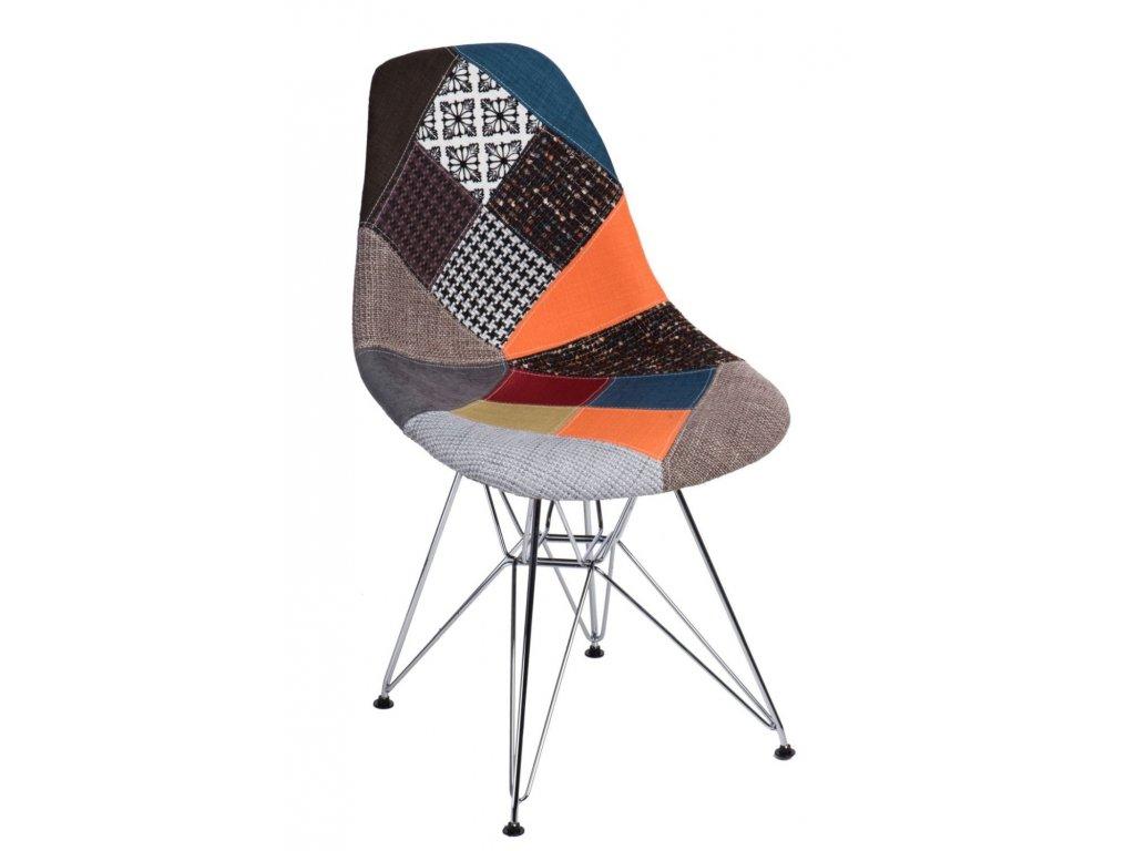 Stoličky P016 DSR patchwork farebný