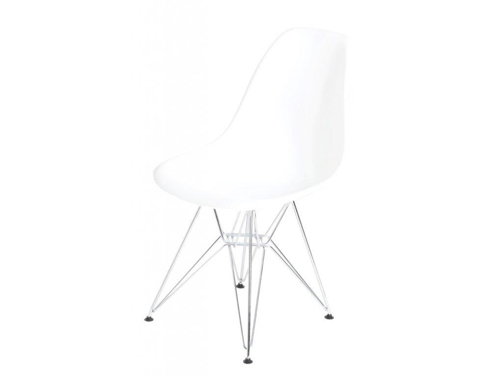 Stoličky P016 PP biela, chrómované nohy
