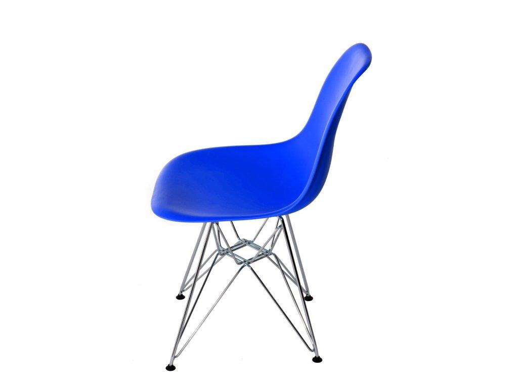 Stoličky P016 PP modrá, chrómované nohy