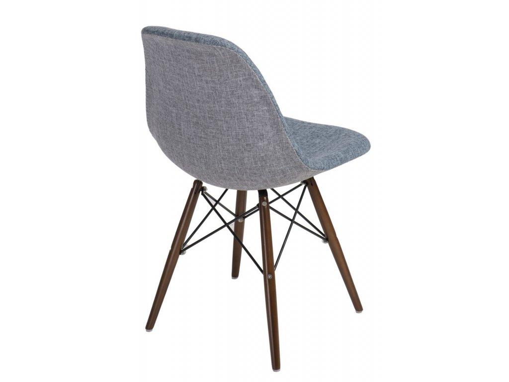 Stoličky P016V Duo modrá sivá / dark