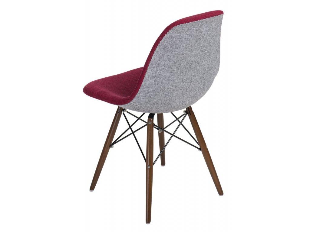 Stoličky P016V Duo červená sivá / dark