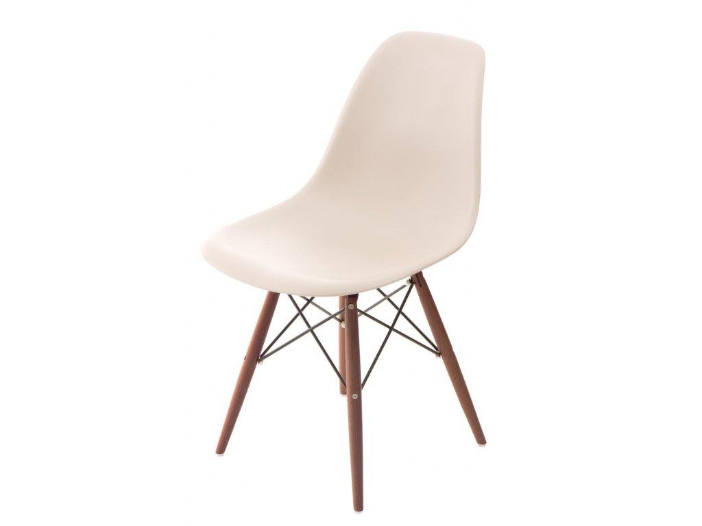 Stoličky P016V PP béžová / tmavá