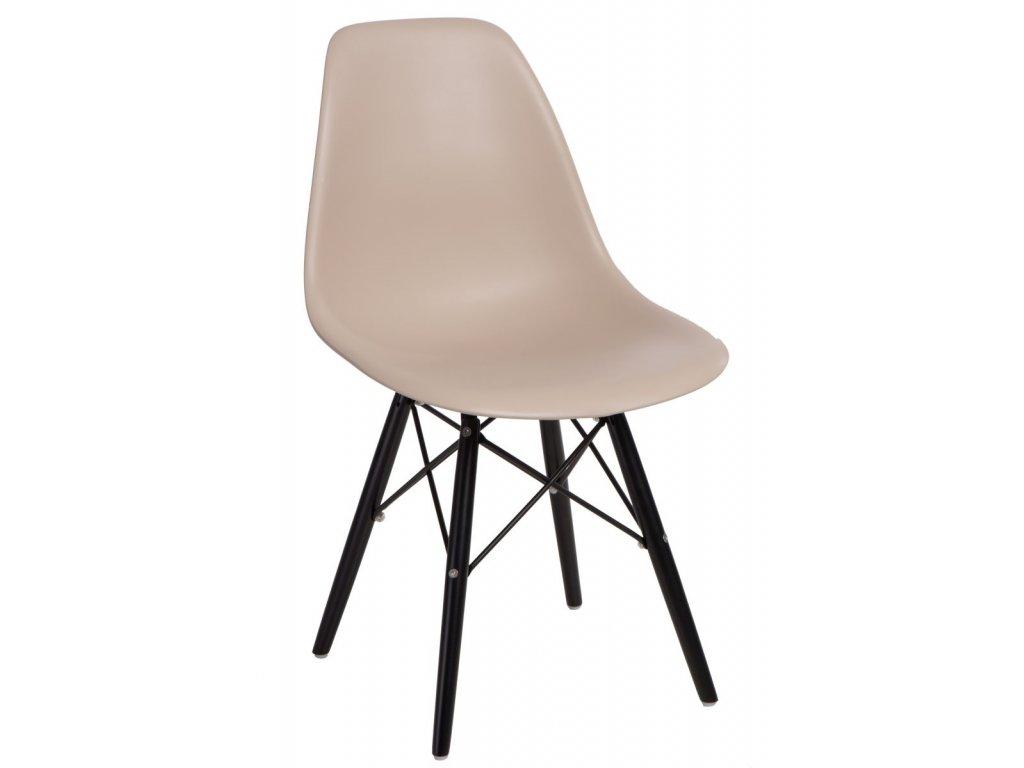 Stoličky P016V PP béžová / čierna