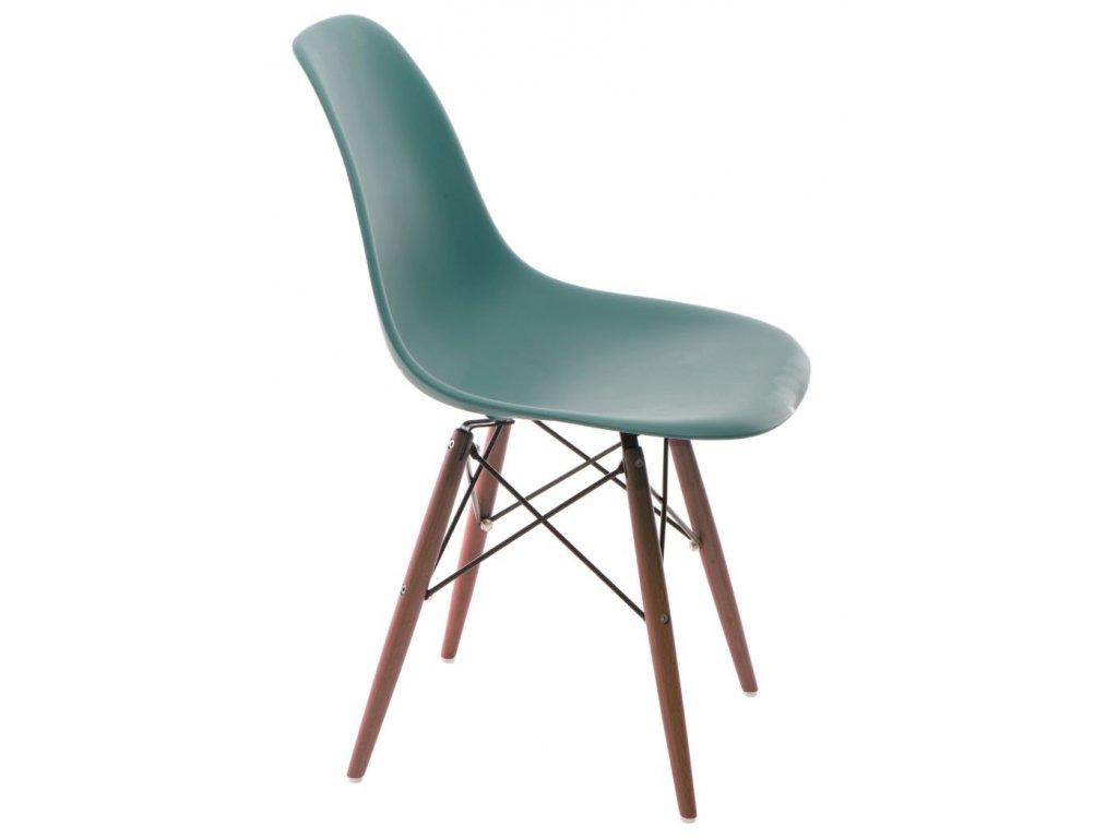 Stoličky P016V PP navy zelená / tmavá