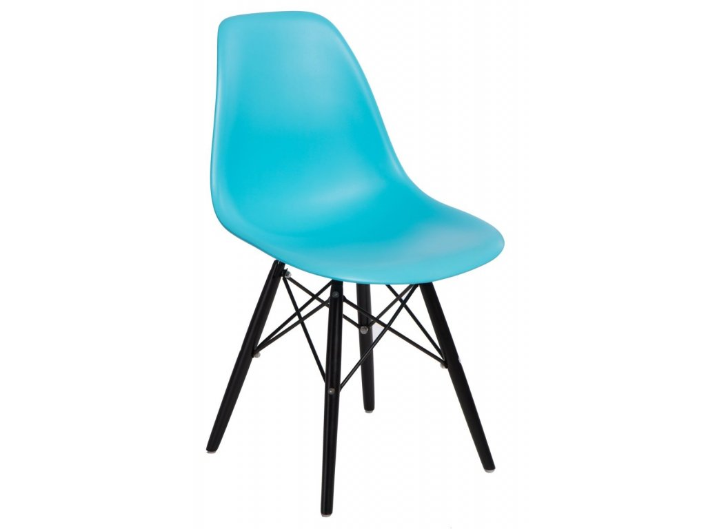 Stoličky P016V PP oceán modrá / čierna