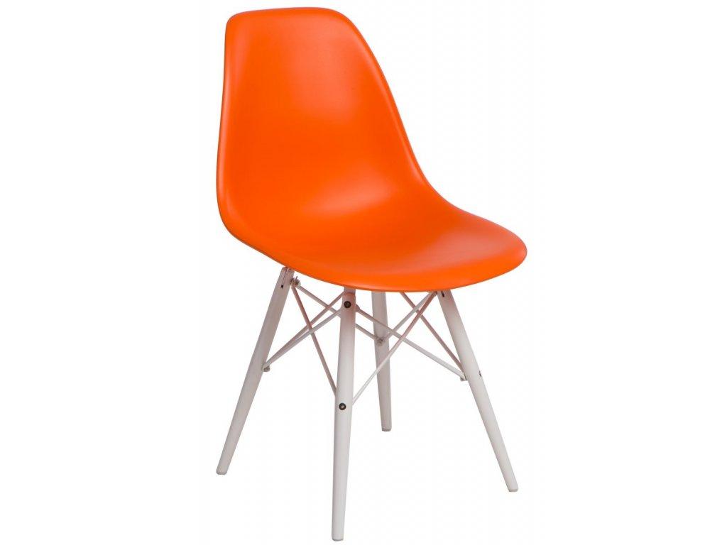 Stoličky P016V PP oranžová / biela