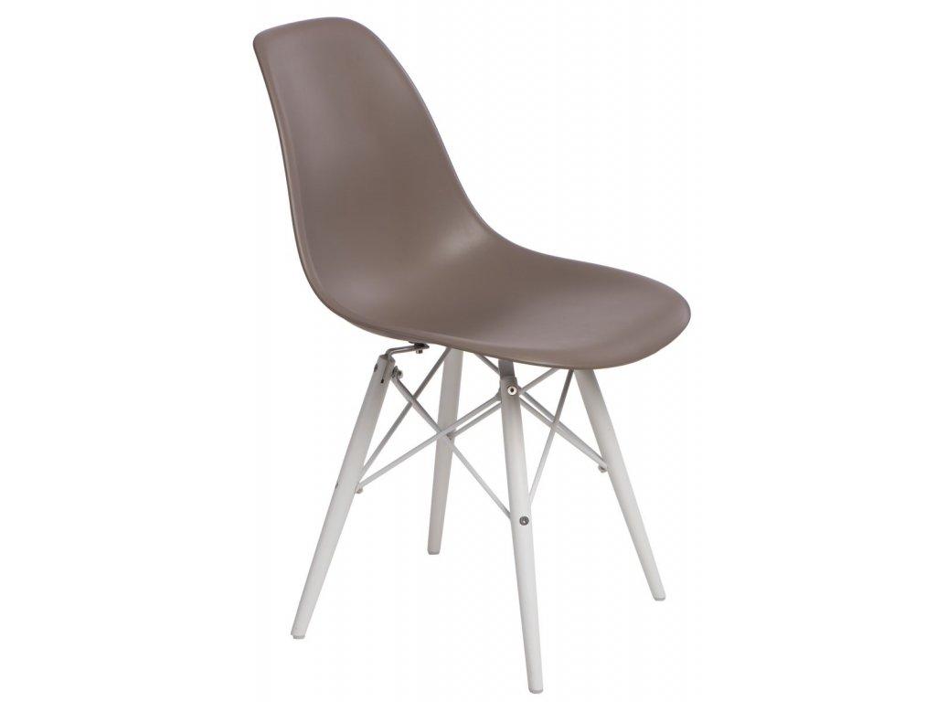 Stoličky P016V PP stredne sivá / biela