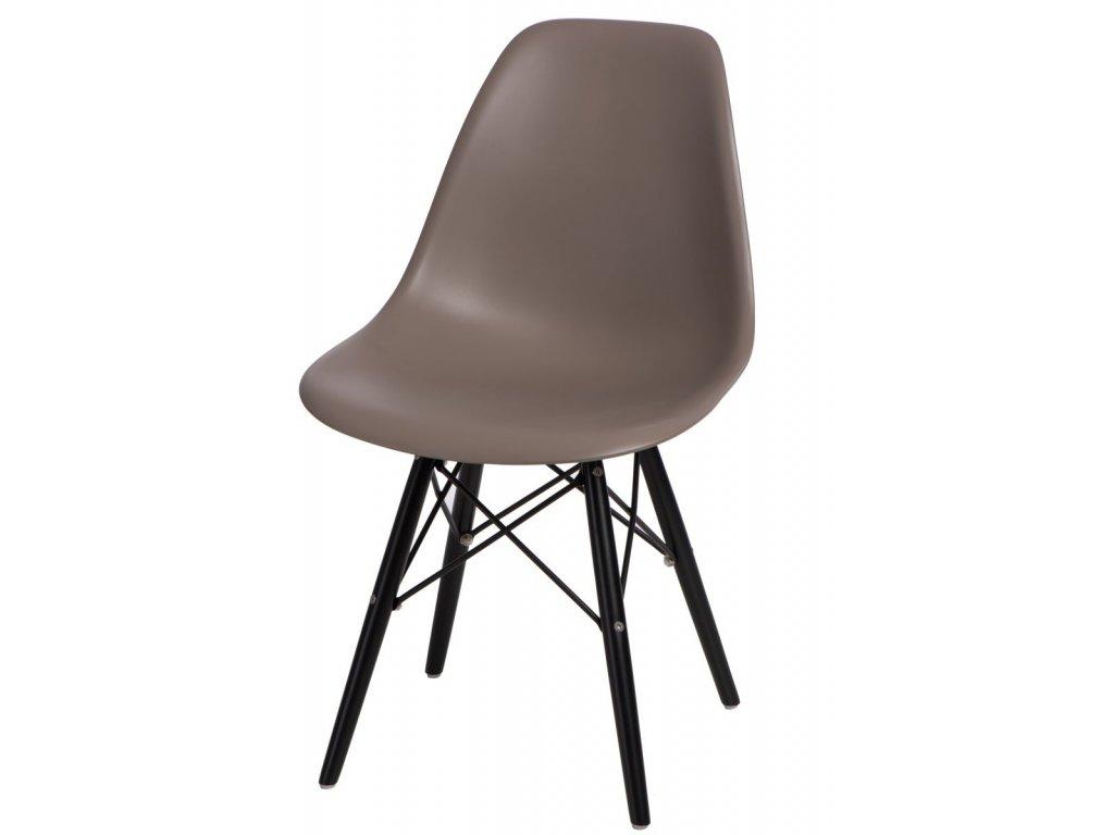 Stoličky P016V PP stredne sivá / čierna