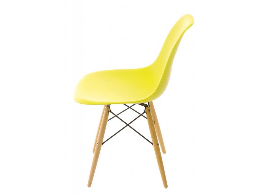 Stoličky P016V PP tmavá olivová, drevené nohy