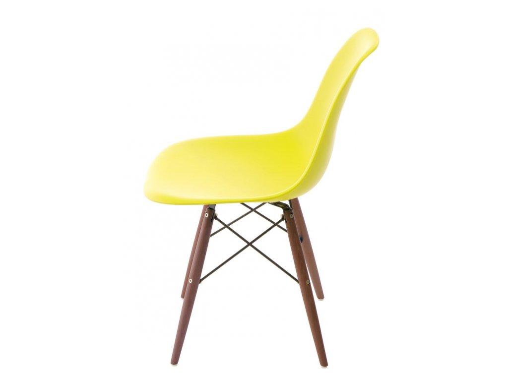 Stoličky P016V PP tmavá olivová / tmavá
