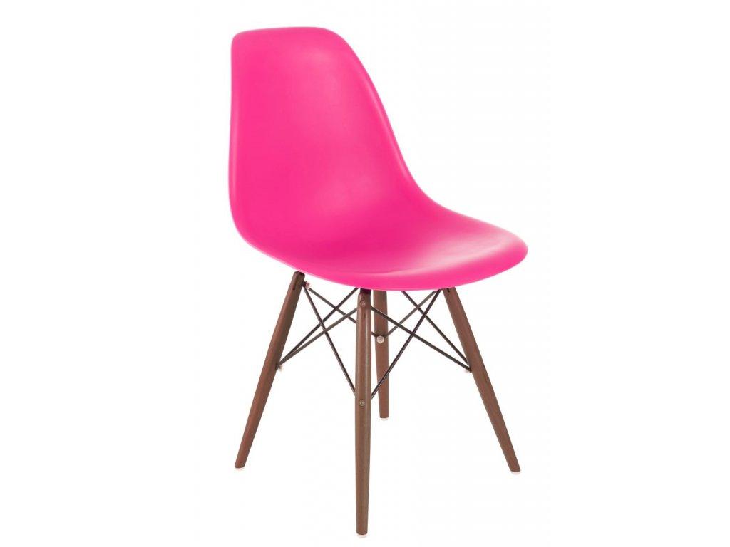Stoličky P016V PP tmavá ružová / tmavá