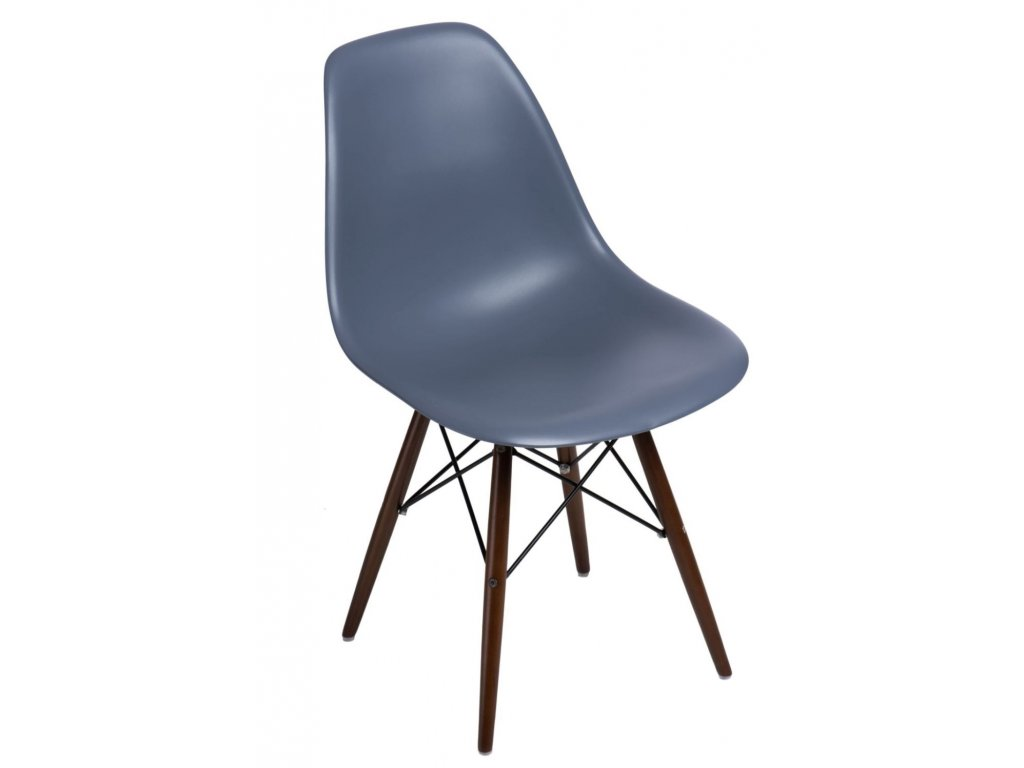 Stoličky P016V PP tmavá Sivá, tmavé nohy