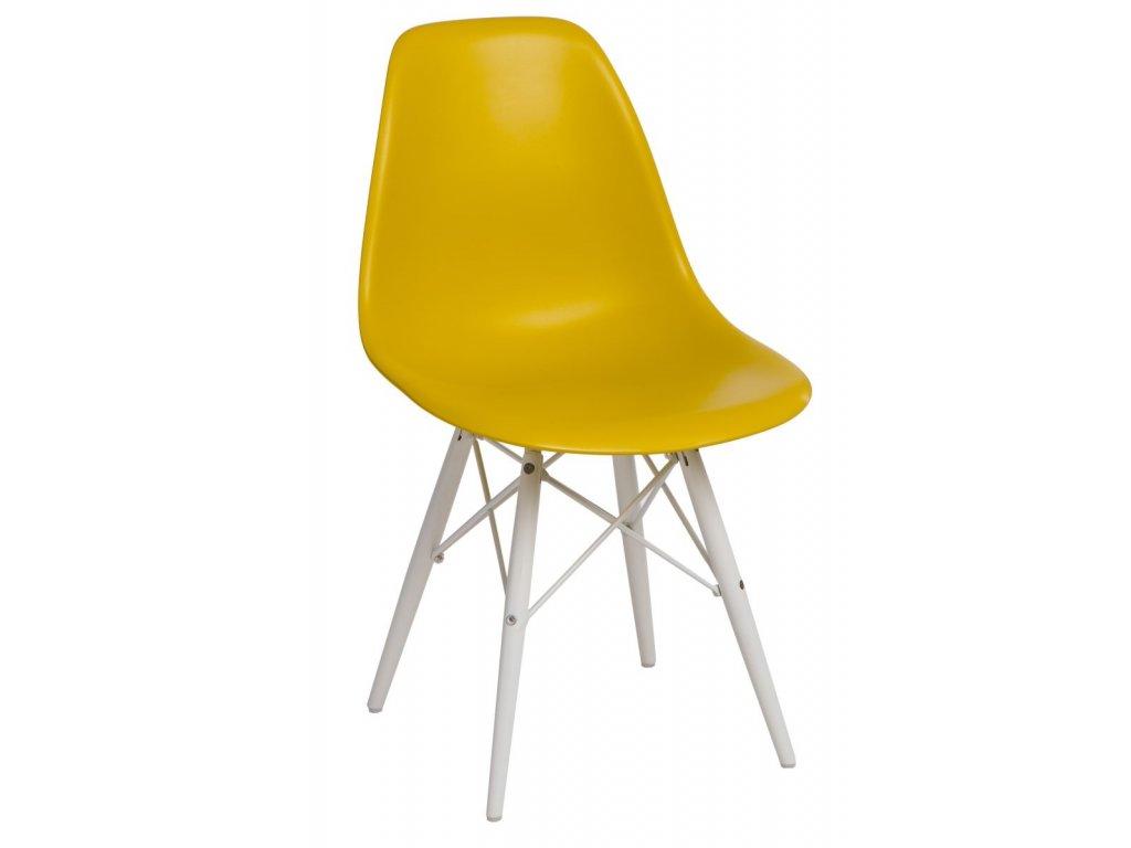 Stoličky P016V PP tmavo olivová / biela